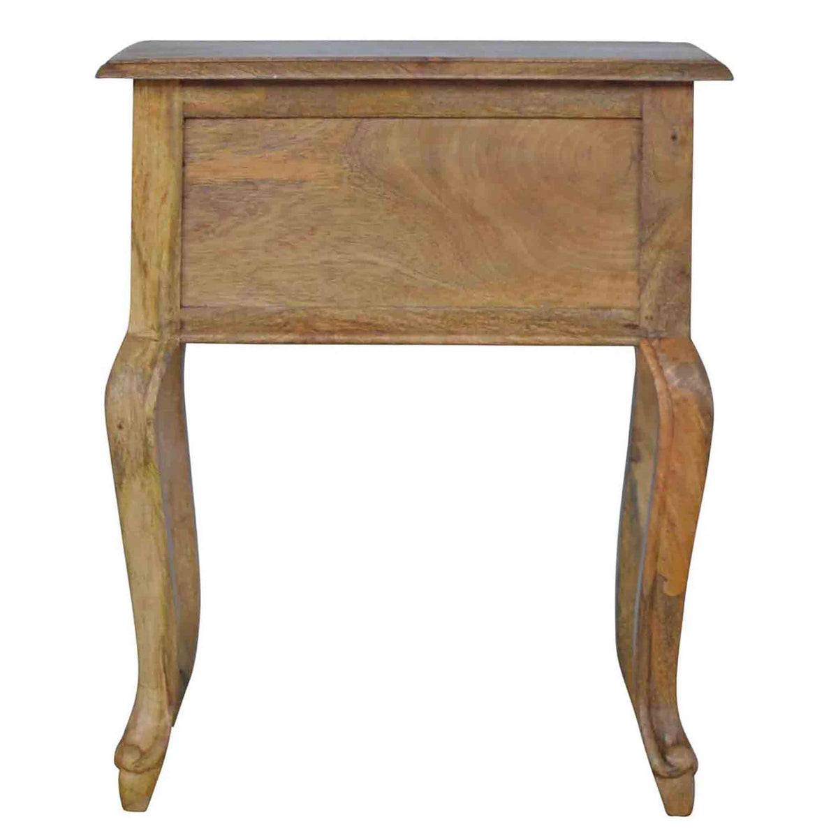 Back panel view of The Artisan French Style 1 Drawer Bedside Table