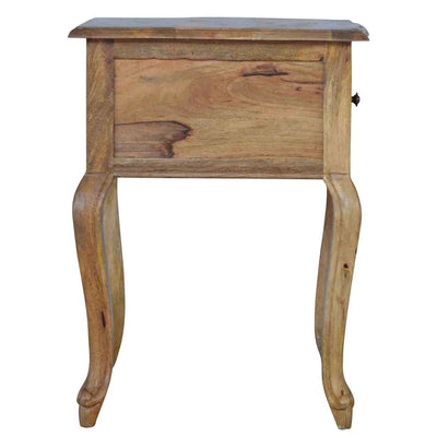 Side view of The Artisan French Style 1 Drawer Bedside Table