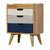 The Scandinavian Navy Painted Wooden Bedside Table with 3 Drawers