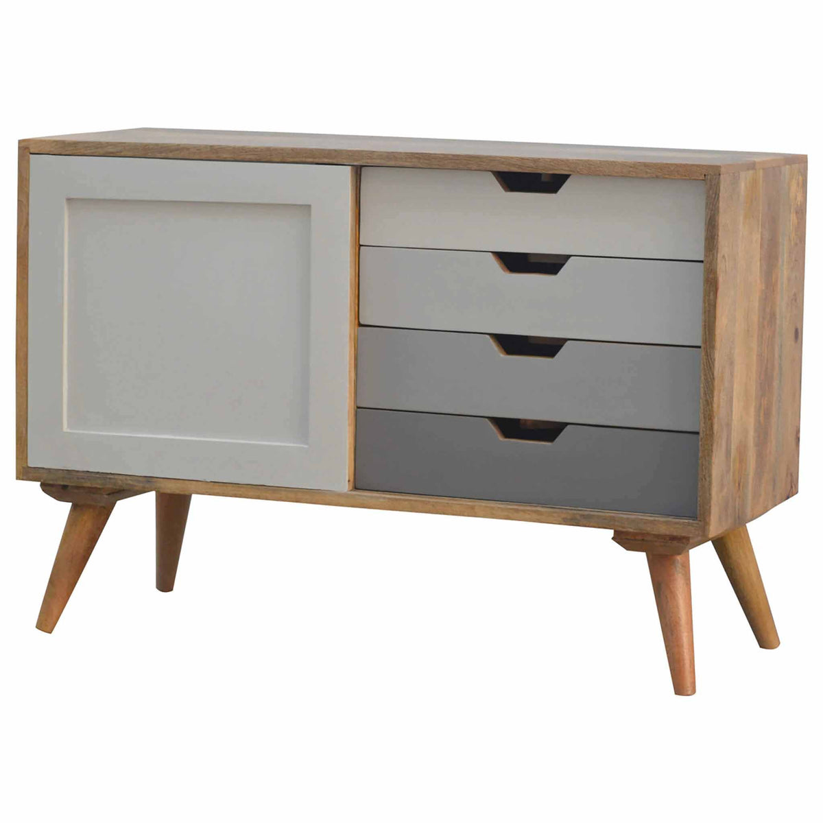 Artisan Nordic Cabinet with 4 Drawers & Sliding Door