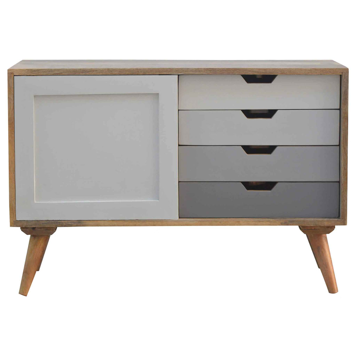 The Scandinavian Nordic Mango Wood Cabinet with Sliding Door from Roseland Furniture