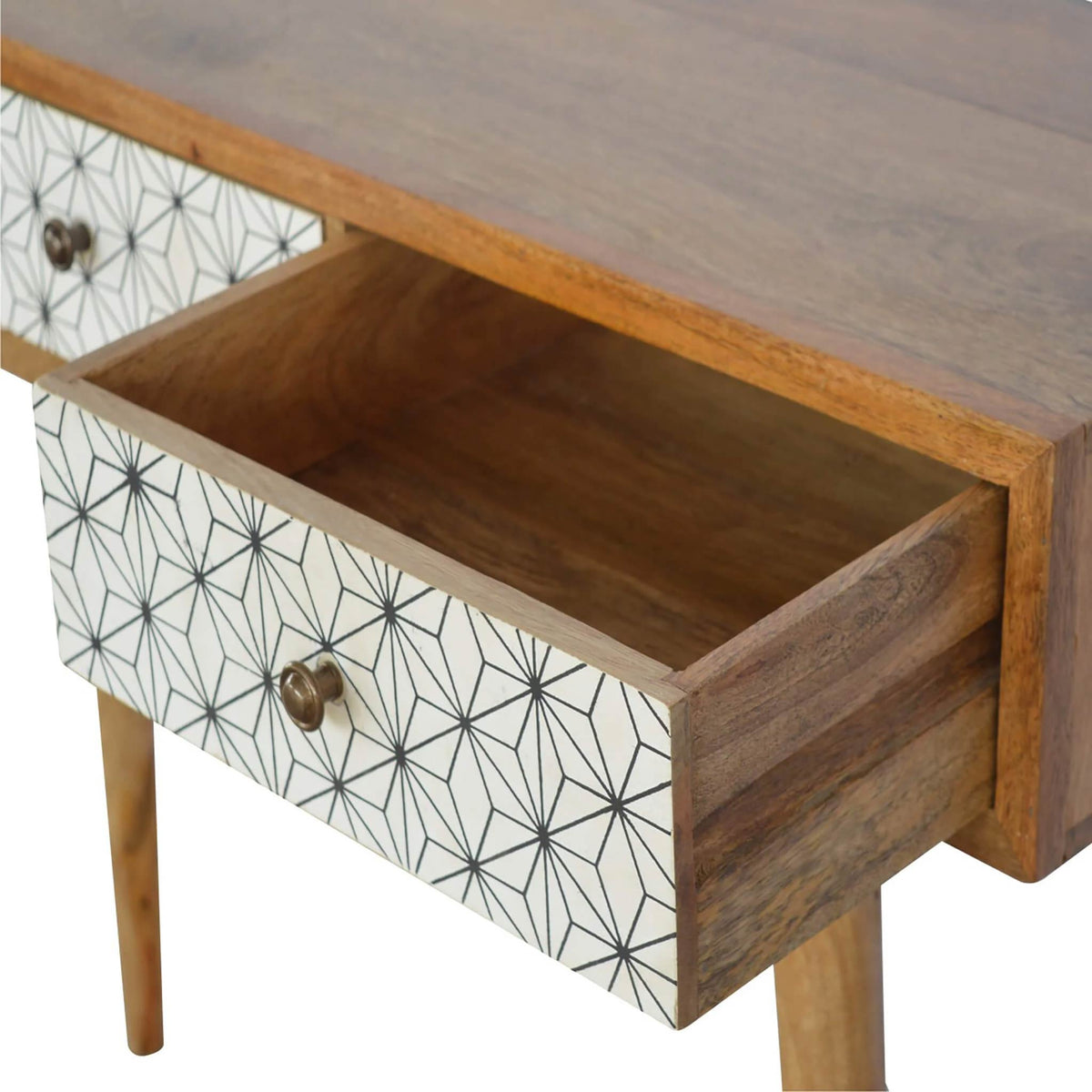 Artisan Retro Writing Desk Console Table  - open drawer