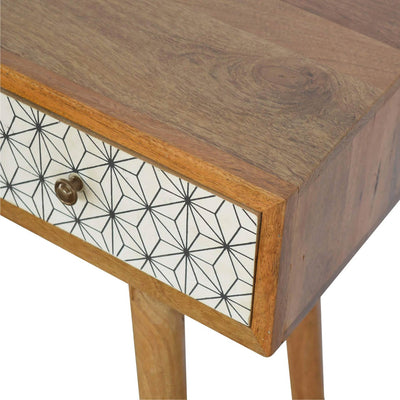 Artisan Retro Writing Desk Console Table  - drawer close up