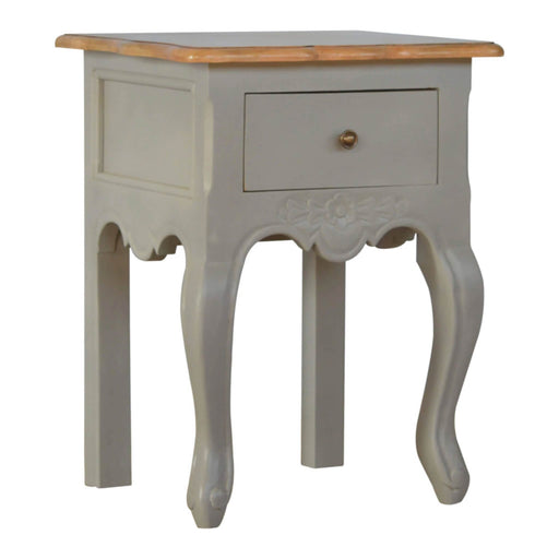 Artisan Grey French Style Lamp Table Bedside Side Table by Roseland Furniture