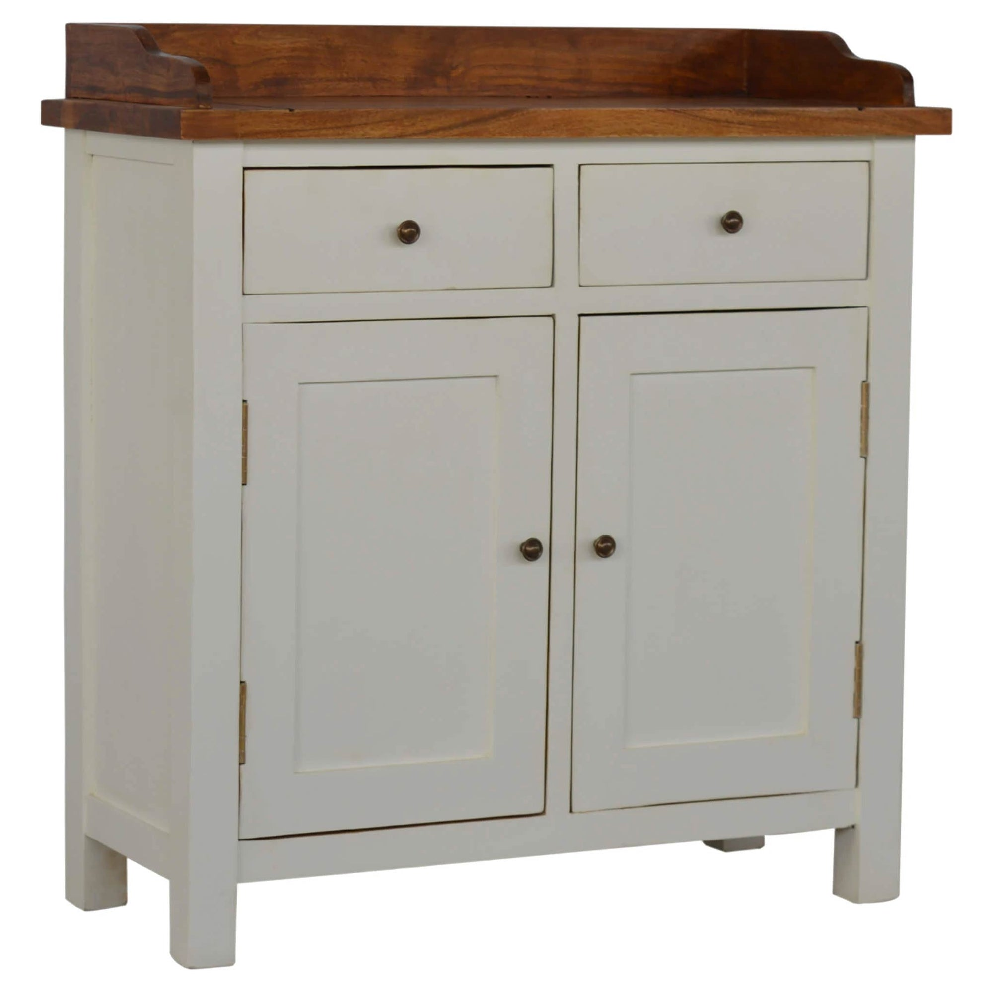 Artisan 2 Toned Kitchen Unit with Gallery Back by Roseland Furniture