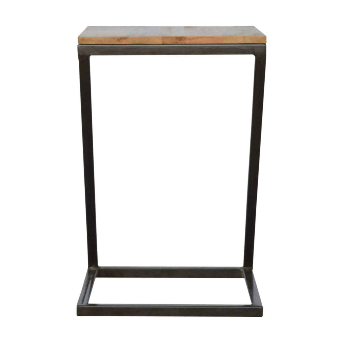 End view of The Artisan Industrial Z shaped Side Table