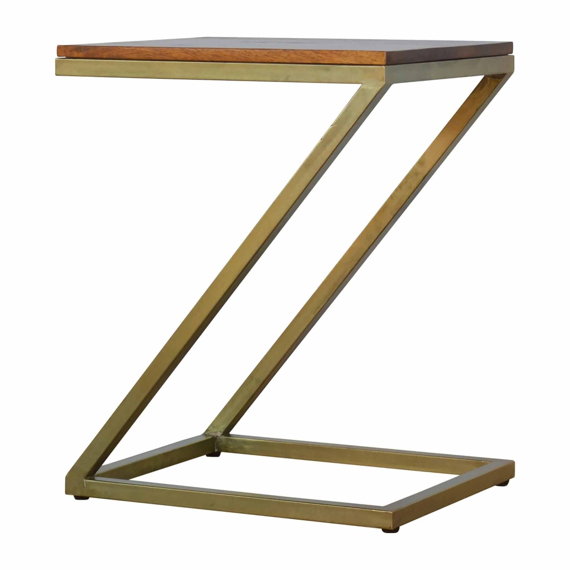 Artisan Side Table With Gold Base by Roseland Furniture