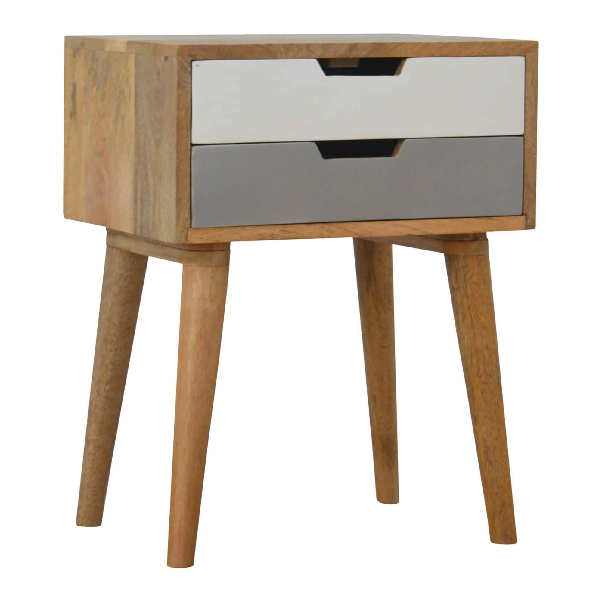 Artisan Blue 2 Drawer Bedside table by Roseland Furniture