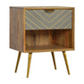 Artisan One Drawer Nordic Style Sleek Cement Bedside Table