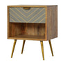 Artisan One Drawer Nordic Style Sleek Cement Bedside Table by Roseland Furniture