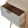 Artisan One Drawer Nordic Style Sleek Cement Bedside Table with drawer open