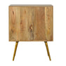 Side of Artisan One Drawer Nordic Style Sleek Cement Bedside Table