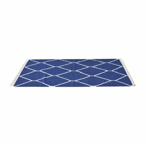 Artisan Navy Net Pattern Rug by Roseland Furniture
