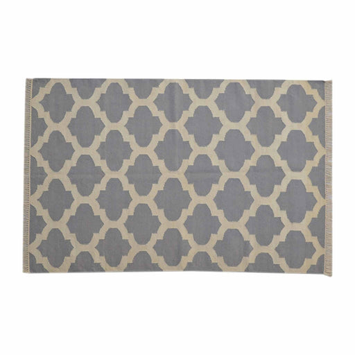 Artisan Grey Moroccan Quatrefoile Pattern Rug by Roseland Furniture