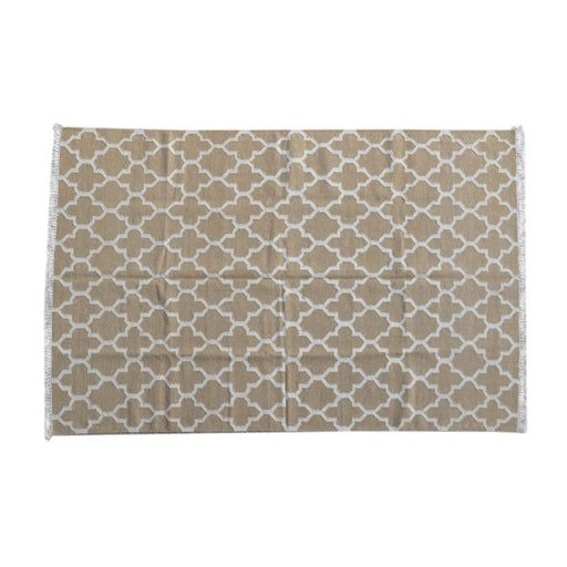 Artisan Tan Moroccan Trellis Pattern Rug 180cm X130cm by Roseland Furniture