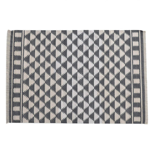 Artisan Black & White Diamond Pattern Rug 180cm X 125cm  by Roseland Furniture