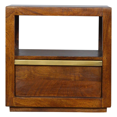 Artisan Drawer Chestnut Bedside Table with Drawer