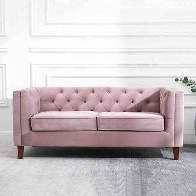 Eliza Heather 3 Seater Chesterfield Sofa - Lifestyle