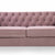 Eliza Heather 3 Seater Chesterfield Sofa - Close up of cushioned seat