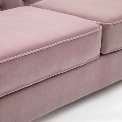 Eliza Heather 3 Seater Chesterfield Sofa - Close up of cushion