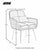 Jess Diamond Stitch Accent Chair - Size Guide