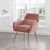 Diamond Blush Pink Velvet Accent Chair lifestyle image