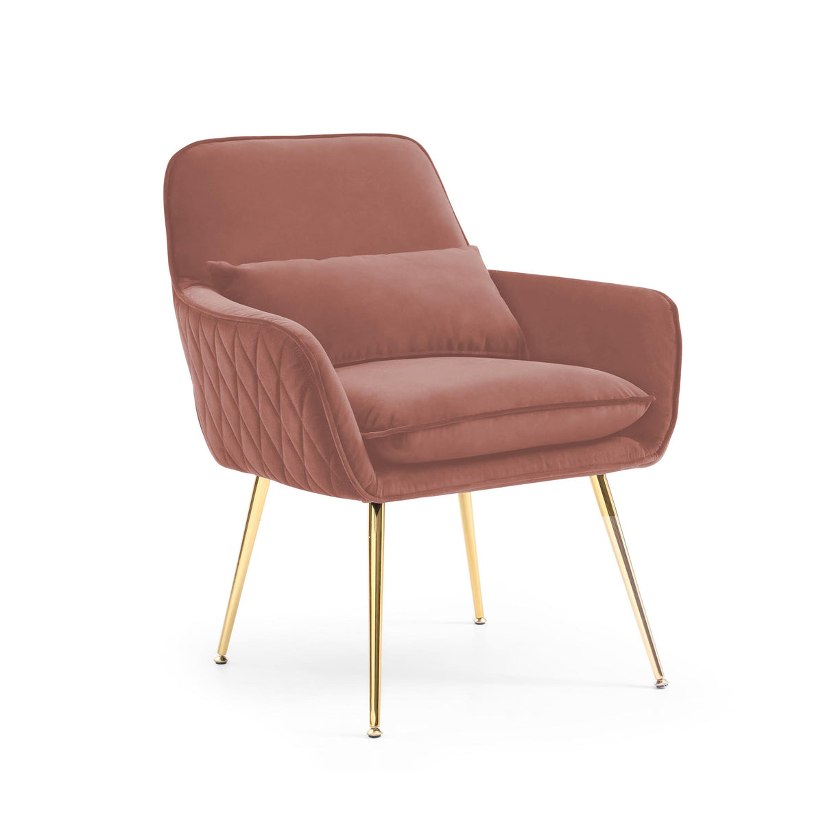 Diamond Blush Pink Velvet Accent Chair from Roseland Furniture