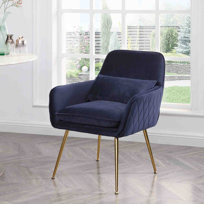 Diamond Ink Blue Velvet Accent Chair lifestyle image