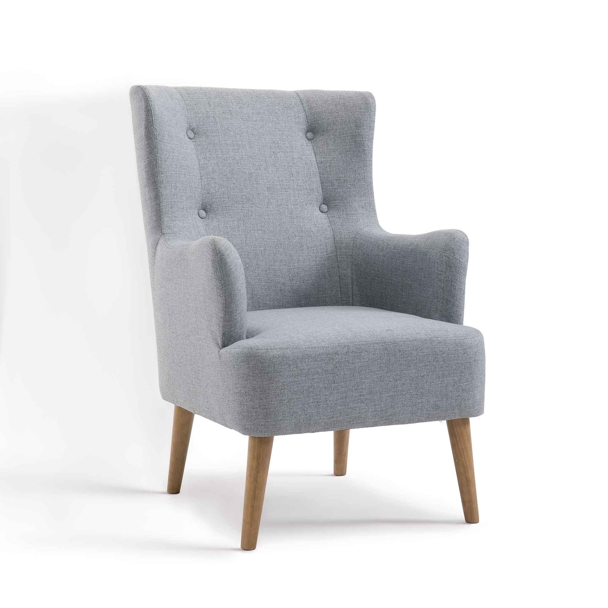 Bergen Grey Fabric Armchair from Roseland Furniture