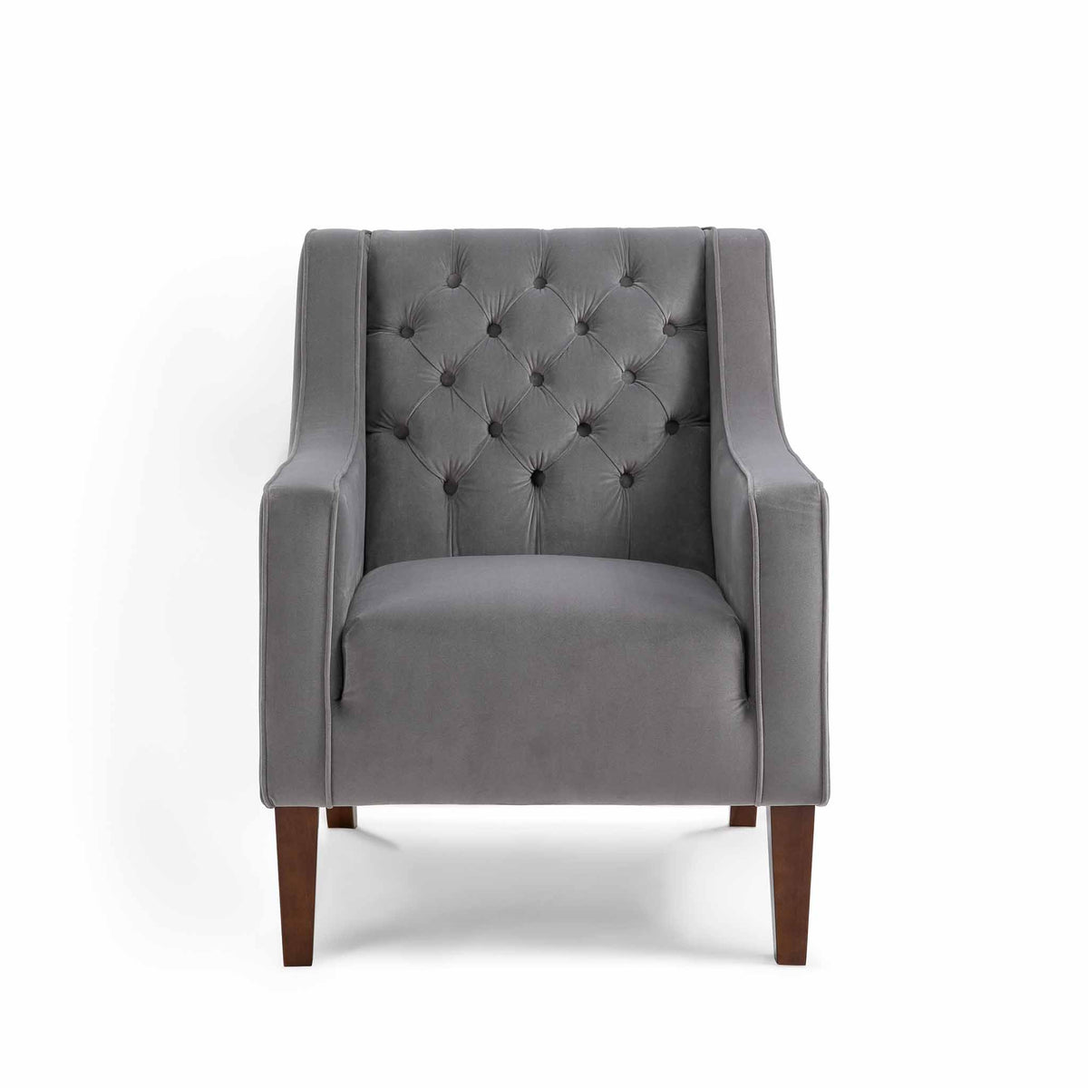 Eliza Grey Chesterfield Arm Chair by Roseland Furniture