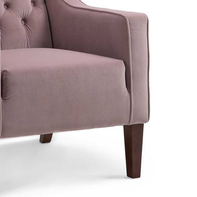 Eliza Heather Chesterfield Arm Chair - Close up of Legs