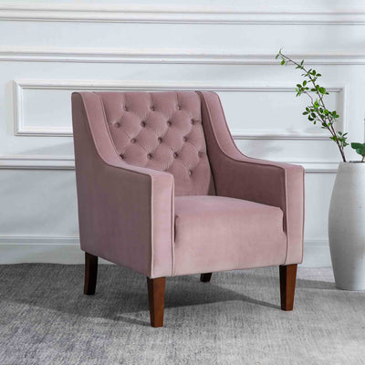 Eliza Heather Chesterfield Arm Chair - Lifestyle