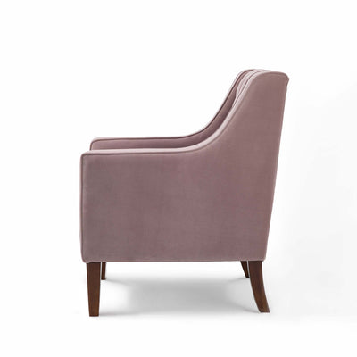 Eliza Heather Chesterfield Arm Chair - Side on view