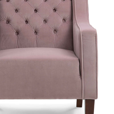 Eliza Heather Chesterfield Arm Chair - Close up of seating
