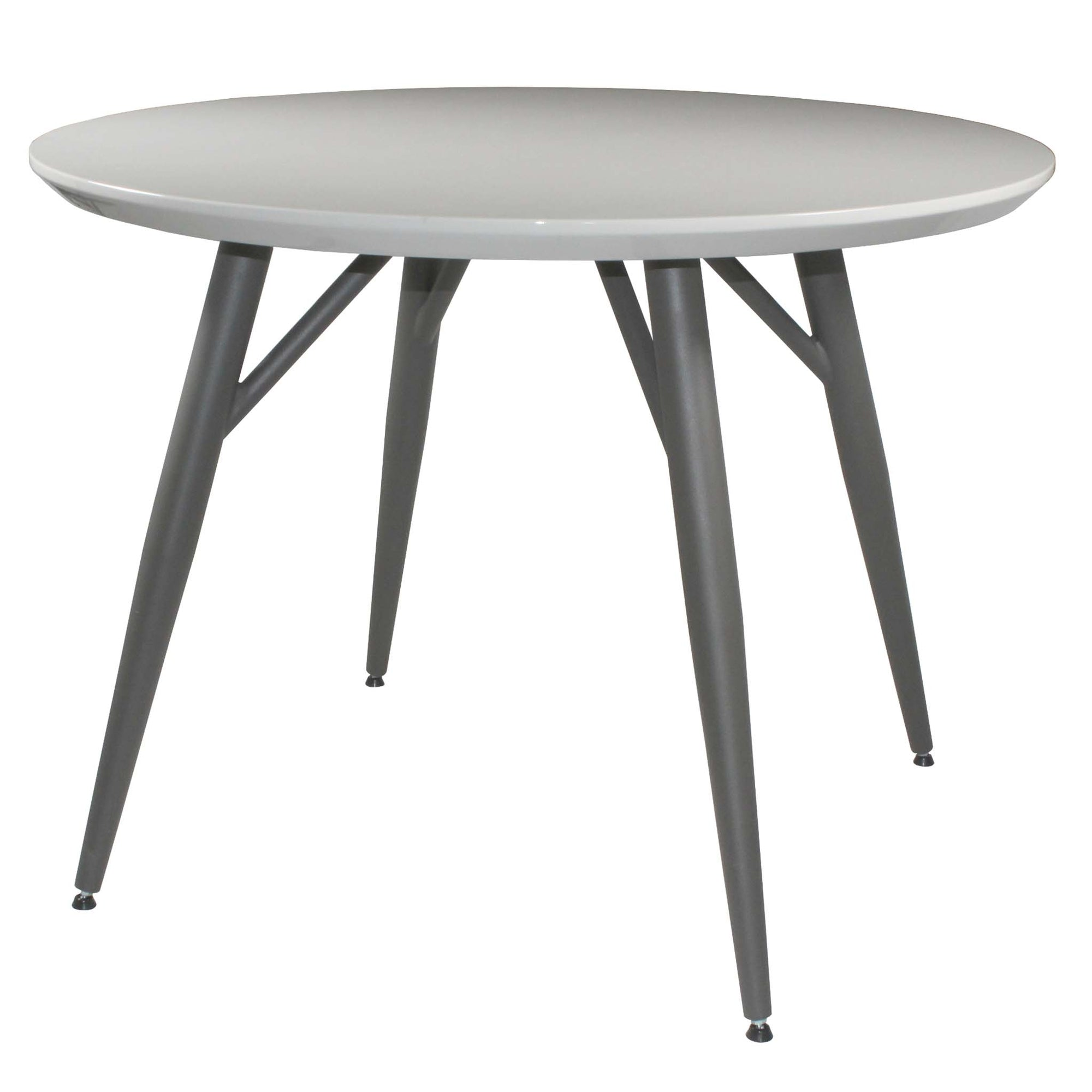 Loma High Gloss Light Grey Dining Table