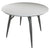 Loma High Gloss Light Grey Dining Table with steel legs