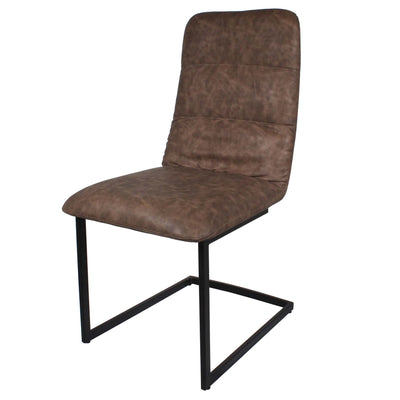 Coffee Maitland Faux Leather Dining Chairs by Roseland Furniture
