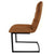 Side view of Cloudy Tan Maitland Faux Leather Dining Chairs by Roseland Furniture