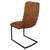 Back of Cloudy Tan Maitland Faux Leather Dining Chair by Roseland Furniture