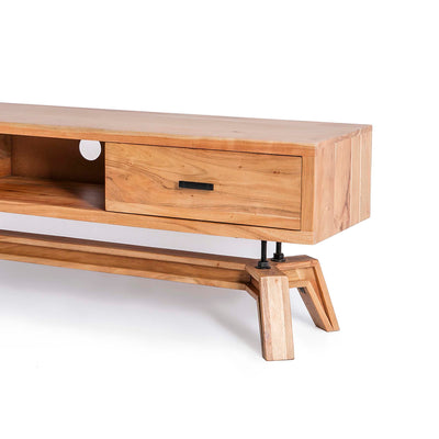 Freya Acacia 170cm TV Stand - Close up of drawer and TV Stand Front