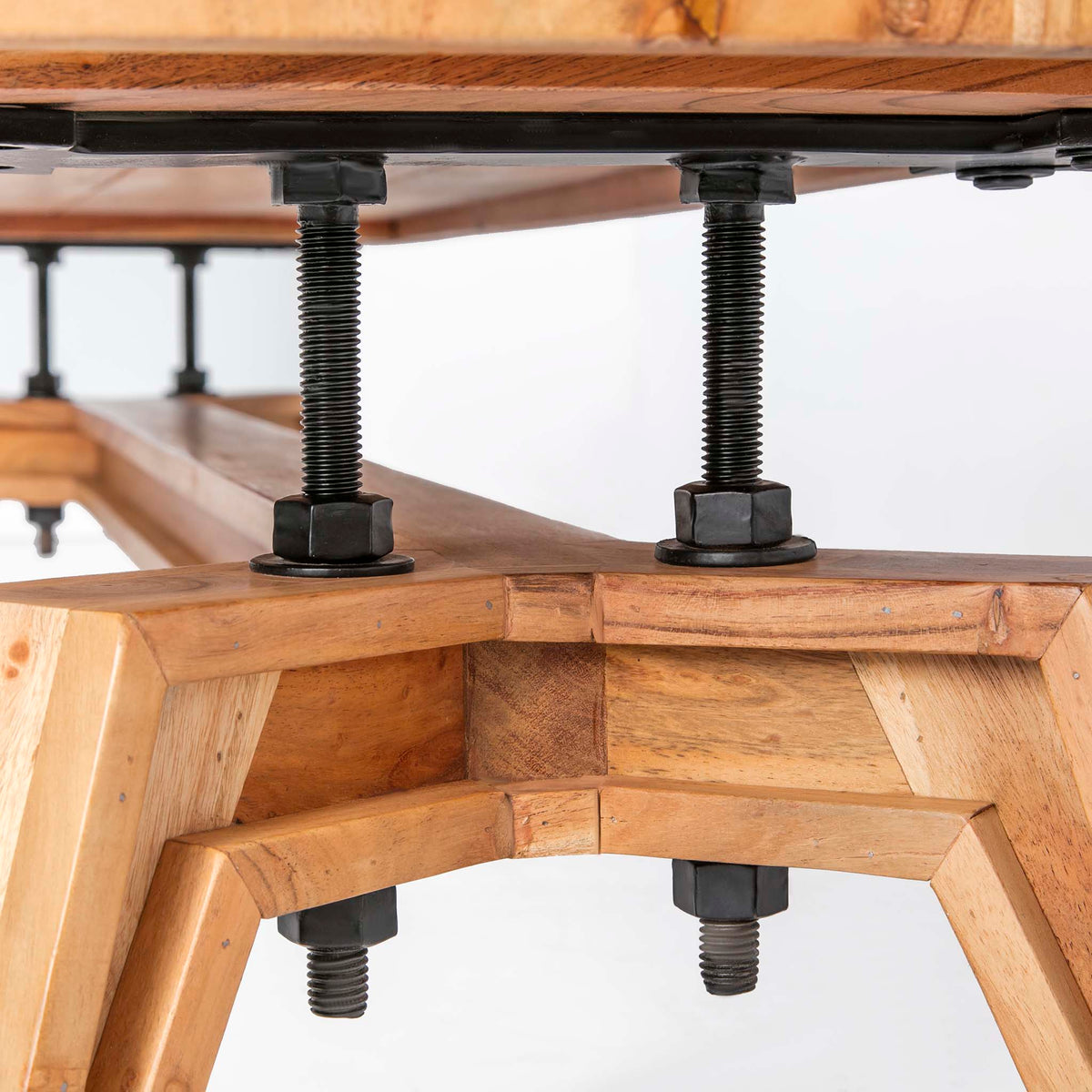 Freya Acacia 170cm TV Stand - Close up of  underside  detail of TV Stand