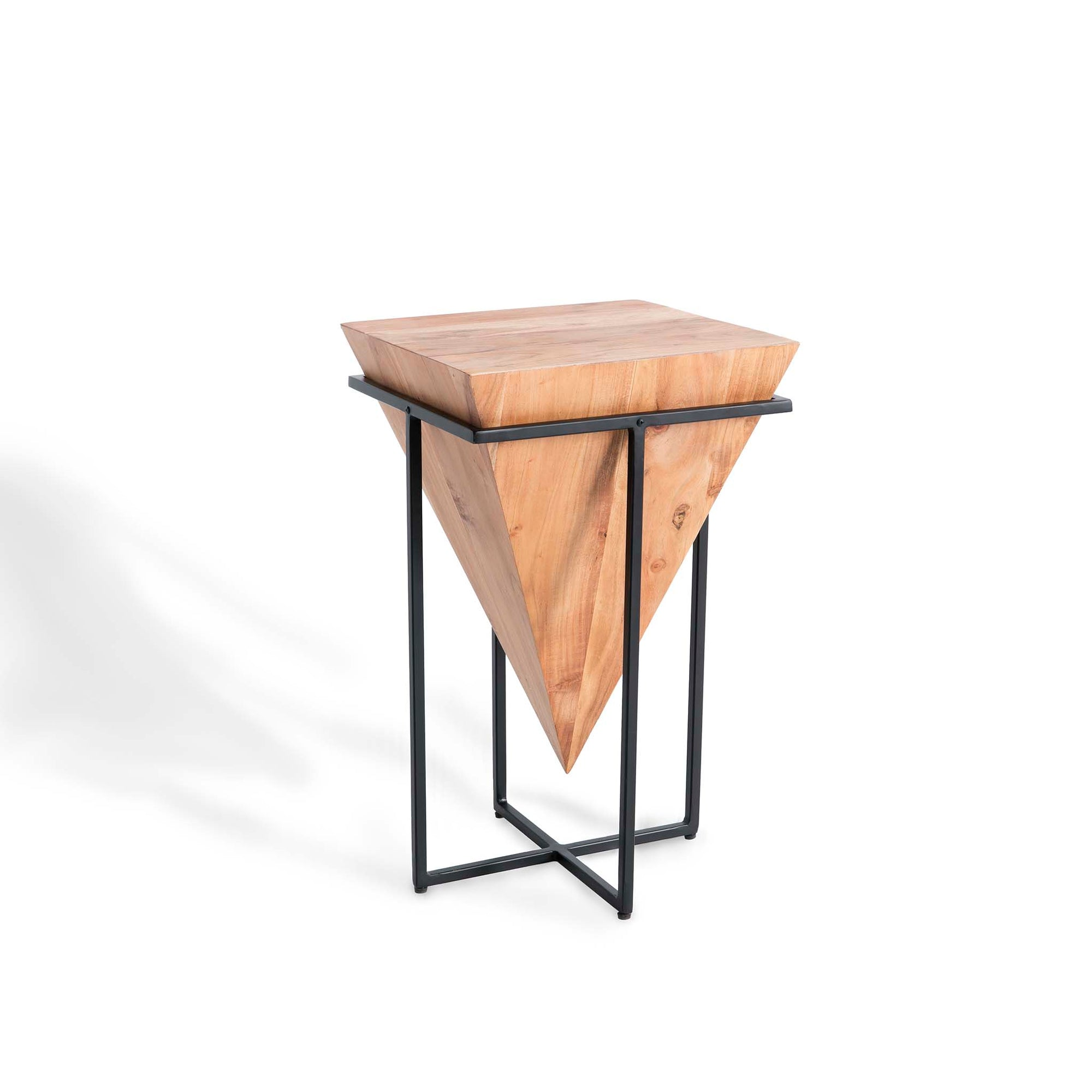 Freya Acacia Medium Cube Side Table by Roseland Furniture