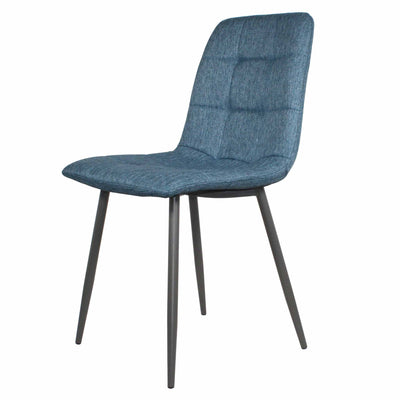 Olivia Blue Faux Leather Padded Dining Chairs