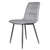 Olivia Light Grey Faux Leather Padded Dining Chairs