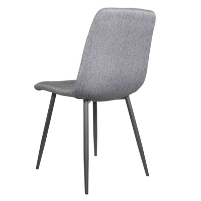 Back view of Olivia Light Grey Faux Leather Padded Dining Chairs