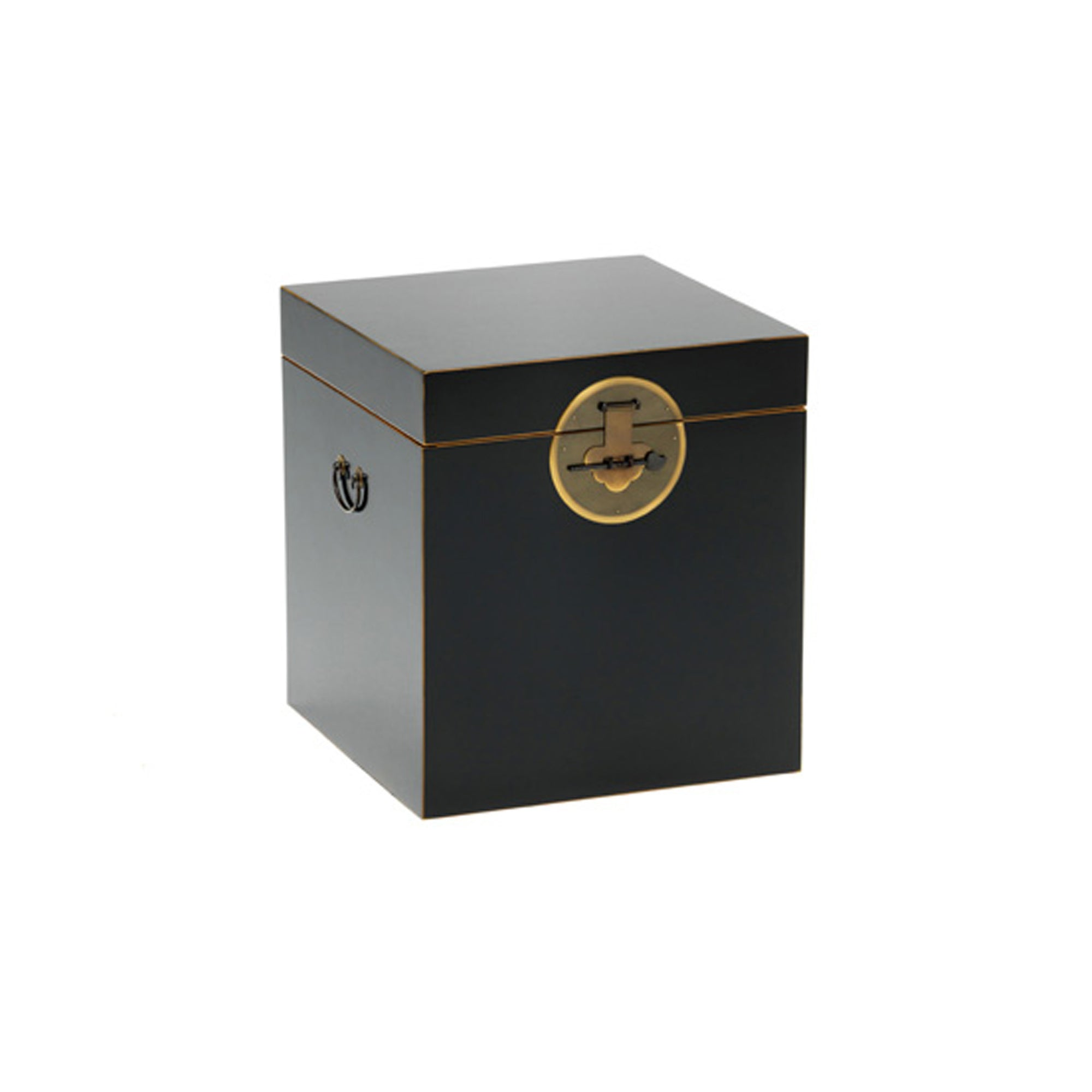 The Nine Schools Qing Black and Gilt Trunk by Roseland Furniture