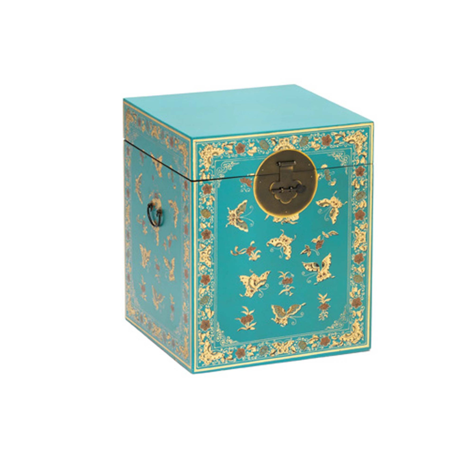 The Nine Schools Small Oriental Blue Trunk by Roseland Furniture