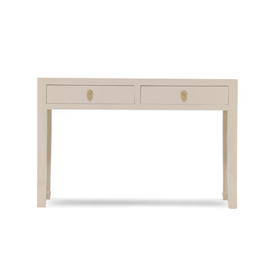 The Nine Schools Oyster Grey Large Console Table  -  Front view