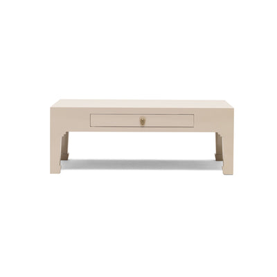 The Nine Schools Oyster Grey Coffee Table - Front view