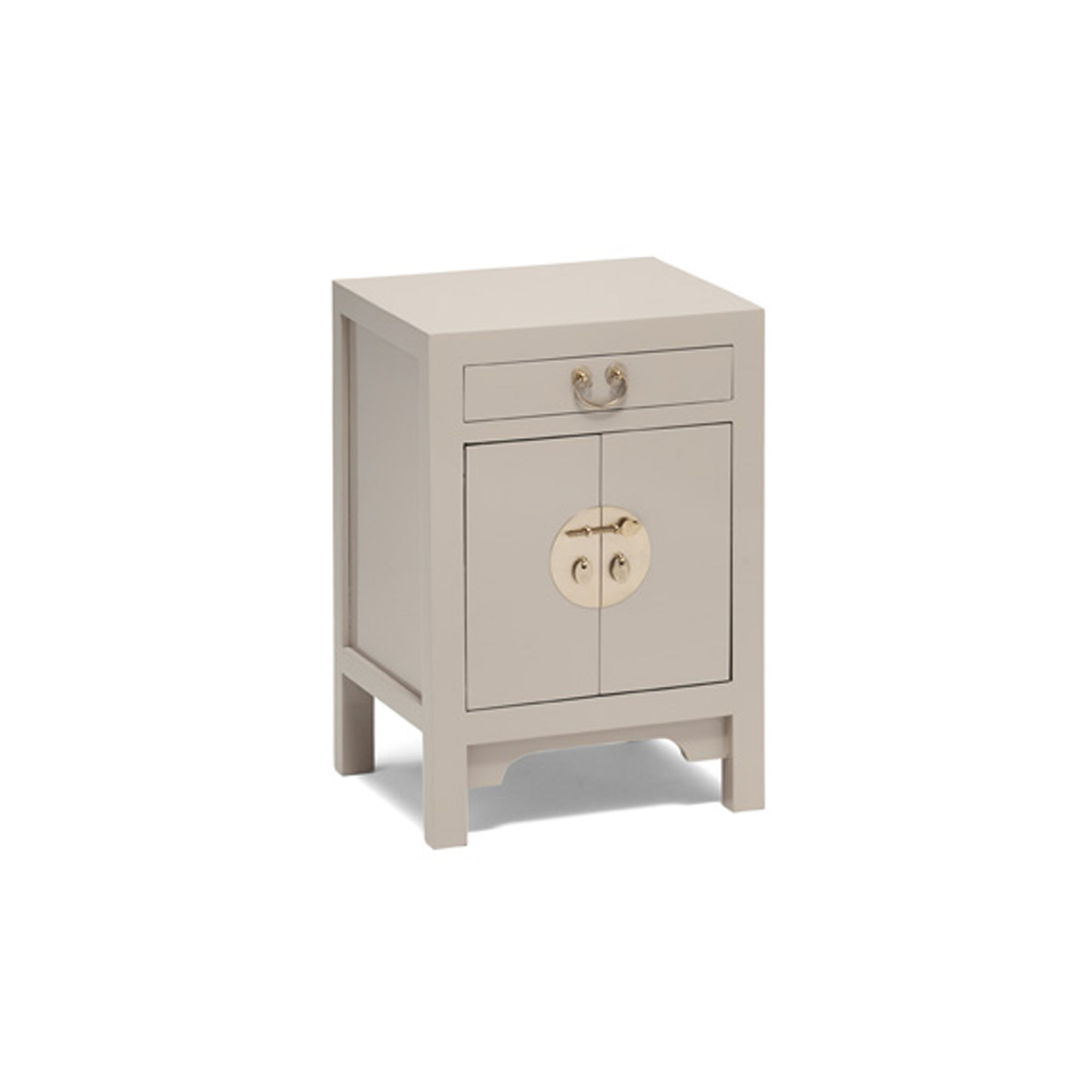 The Nine Schools Qing Oyster Grey Small Cabinet by Roseland Furniture